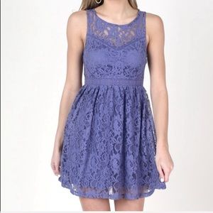 🍃 NWT Altar'd State Purple Lace Dress